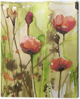Canvas Print poppies