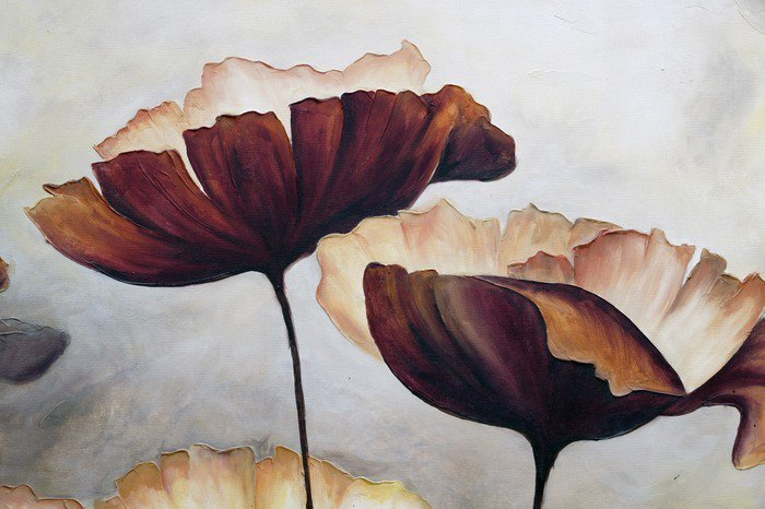 Canvas Print Poppy abstract painting - Hobbies and Leisure