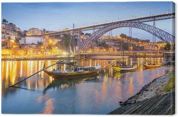 Porto, Portugal Town Skyline on the Douro River Canvas Print
