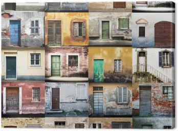 Canvas Print portoni e finestre collage