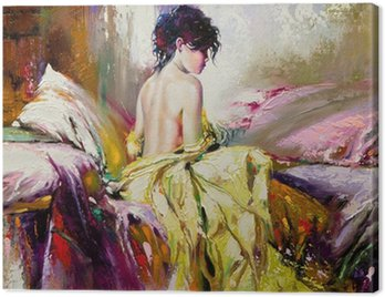Canvas Print Portrait of the nude girl