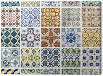 Canvas Print Portuguese Tiles Collage