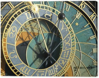 Prague Astronomical Clock (Orloj) in detail in the Old Town