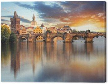 Canvas Print Prague - Charles bridge, Czech Republic