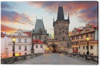 Canvas Print Prague View from Charles Bridge