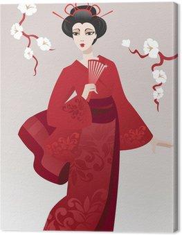 Pretty geisha Canvas Print