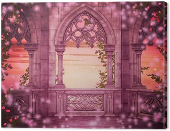 Canvas Print Princess Castle Fantasy Backdrop