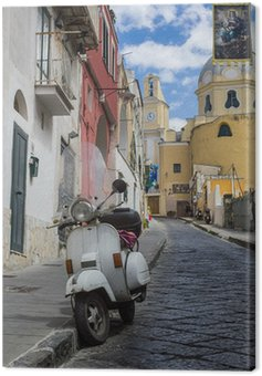 Canvas Print procida island view of an alley
