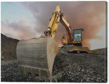Canvas Print Quarry excavator