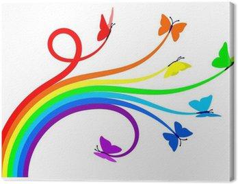 Canvas Print Rainbow butterflies