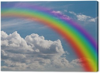 Canvas Print rainbow in the clouds.