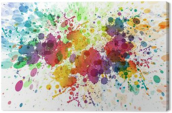 Canvas Print raster version of Abstract colorful splash background