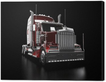 Canvas Print Red heavy truck