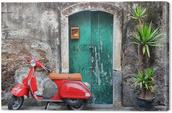 Canvas Print Red scooter