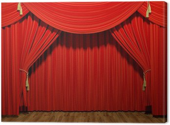 Canvas Print Red stage theater velvet drapes