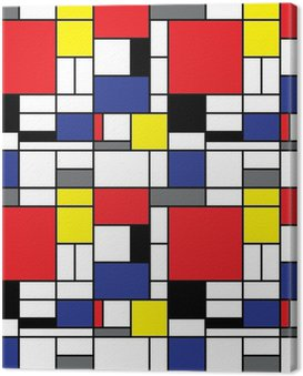 Repeating Mondrian Background Canvas Print