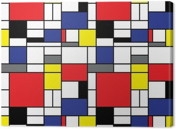 Canvas Print Repeating Mondrian Background