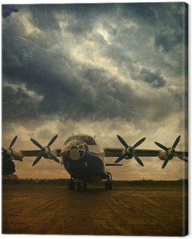 Canvas Print Retro aviation, grunge background