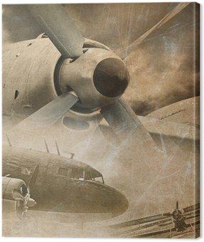 Canvas Print Retro aviation, vintage background