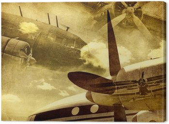 Canvas Print Retro aviation