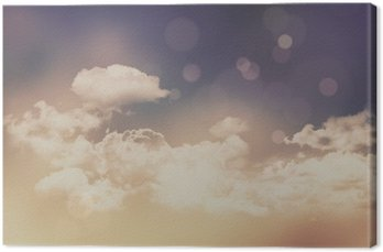 Retro clouds and sky background Canvas Print