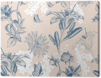 Canvas Print retro flower vector illustration