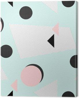 Canvas Print Retro Geometric Pattern