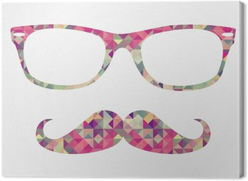 Retro hipster face geometric icons Canvas Print