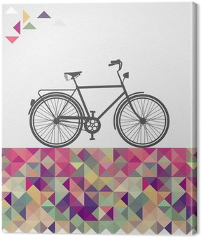 Retro hipsters bicycle geometric elements.