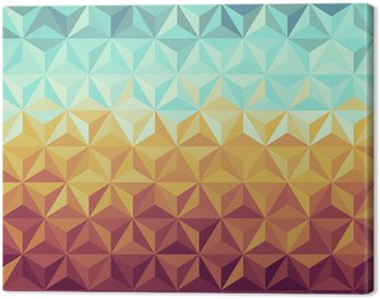 Retro hipsters geometric pattern. Canvas Print