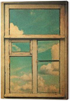 retro image with window