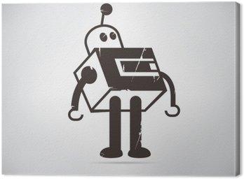Canvas Print retro robot cartoon