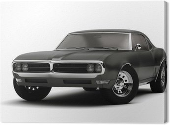 Canvas Print retro sport car