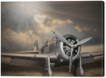 Canvas Print Retro style picture of the aircraft.