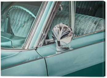 Retro styled detail of a vintage car Canvas Print