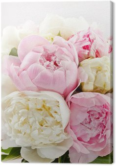 Canvas Print Rich bunch of peonies