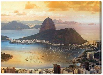 Canvas Print Rio De Janeiro, Brazil in twilight
