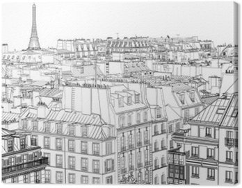 Canvas Print roofs in Paris