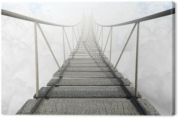 Canvas Print Rope Bridge Above The Clouds