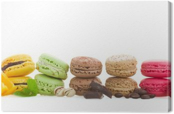 row  of macaroons with ingredients