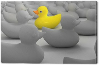 Canvas Print Rubber Duck Against The Flow