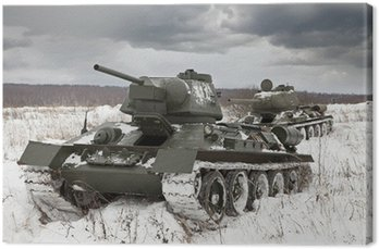Canvas Print Russian Tanks T34