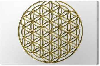 Sacral Symbol Flower of Life in 3D