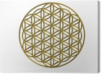 Canvas Print Sacral Symbol Flower of Life in 3D