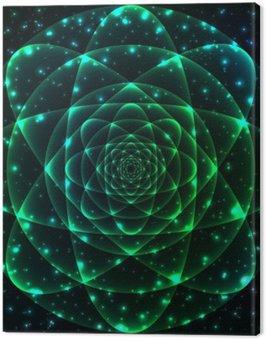 Canvas Print Sacred geometry symbol. Mandala mystery element