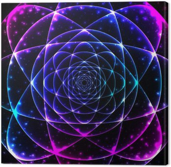 Sacred geometry symbol. Mandala mystery element Canvas Print