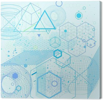 Sacred geometry symbols and elements background Canvas Print