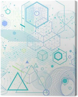 Canvas Print Sacred geometry symbols and elements background