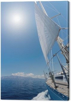 Canvas Print Sailing in the sea