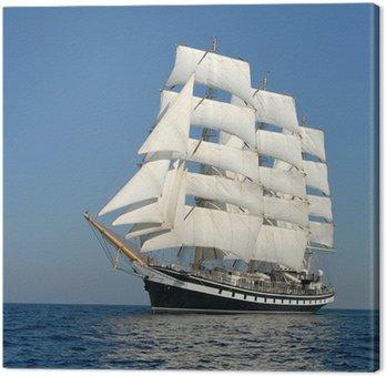 Canvas Print Sailing ship. series of ships and yachts